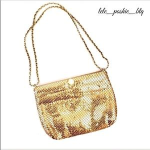 Vintage Gold Mesh Shoulder Bag